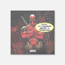 "Deadpool My Common Sense Square Sticker 3"" x 3"""