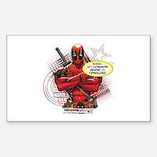 Deadpool My Common Sense Sticker (Rectangle)