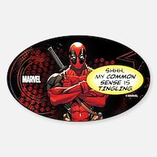 Deadpool My Common Sense Sticker (Oval)