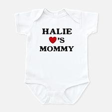Halie loves mommy Infant Bodysuit