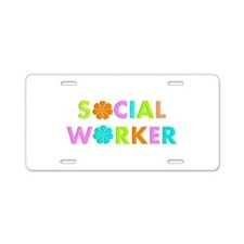 Social Worker 2014 Aluminum License Plate