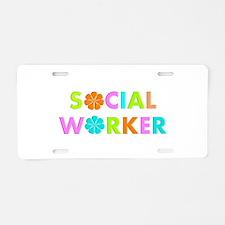 Social Worker 2014 Aluminum License Plate