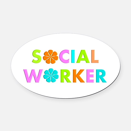Social Worker 2014 Oval Car Magnet