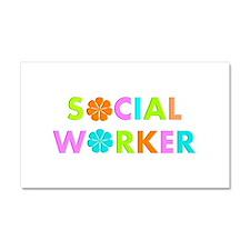 Social Worker 2014 Car Magnet 20 x 12