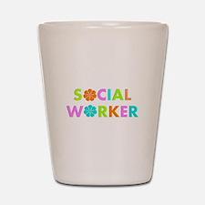 Social Worker 2014 Shot Glass