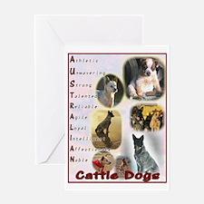 Australian Cattle Dog Logo Greeting Card