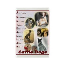 Australian Cattle Dog Logo Rectangle Magnet