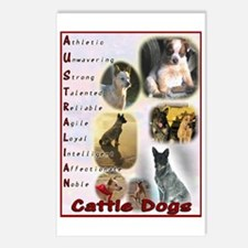 Australian Cattle Dog Log Postcards (Package of 8)
