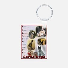 Australian Cattle Dog Logo Keychains