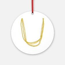Gold Chain Ornament (Round)