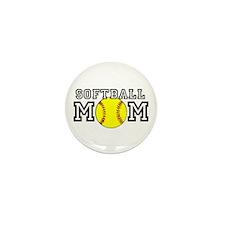 Softball Mom Mini Button (100 pack)