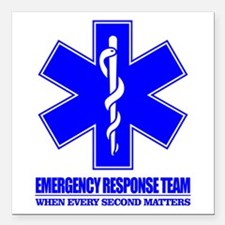"Emergency Response Team Square Car Magnet 3"" x 3"""