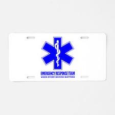Emergency Response Team Aluminum License Plate