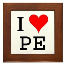 I Love PE Framed Tile