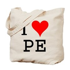 I Love PE Tote Bag