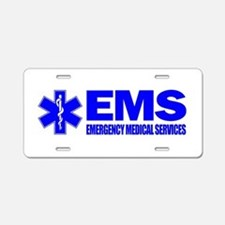EMS Aluminum License Plate