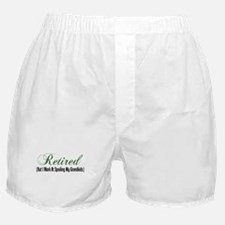Retired Spoiling Grandkids Boxer Shorts