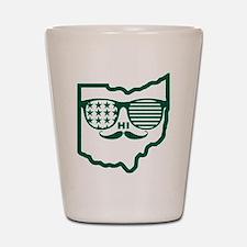 Ohio Mustache Shot Glass