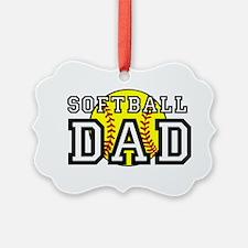 Softball Dad Ornament
