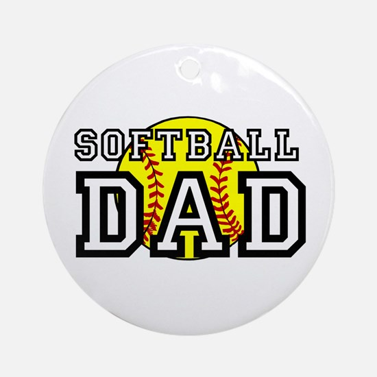 Softball Dad Ornament (Round)