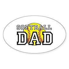 Softball Dad Decal