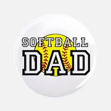 "Softball Dad 3.5"" Button (100 pack)"