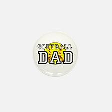 Softball Dad Mini Button (10 pack)