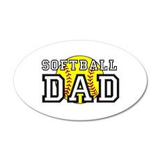 Softball Dad Wall Decal