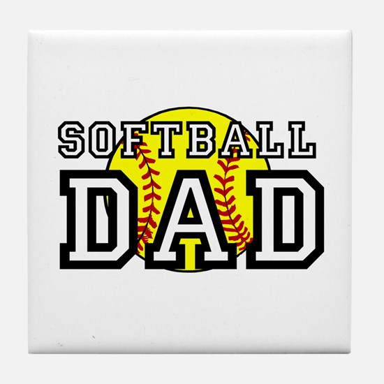 Softball Dad Tile Coaster
