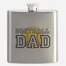 Softball Dad Flask