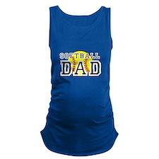 Softball Dad Maternity Tank Top