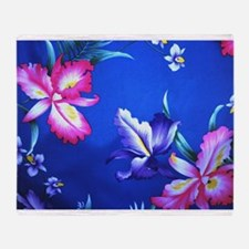 Tropical Hibiscus Beach Flowers - Throw Blanket