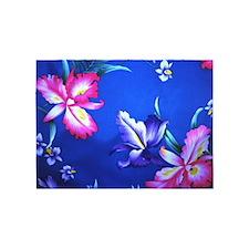 Tropical Hibiscus Beach Flowers - 5'x7'Area Rug