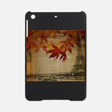 fall nature leaves paris eiffel tower iPad Mini Ca
