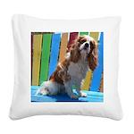 Lifes A Beach Square Canvas Pillow