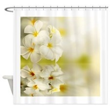 Gorgeous White Plumeria flowers Shower Curtain