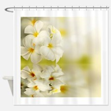 Gorgeous White Plumeria flowers Shower Curtain
