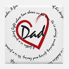 Fathers Day Dad Tile Coaster