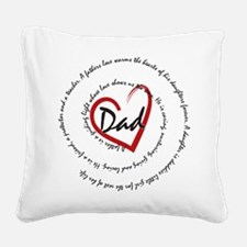 Fathers Day Dad Square Canvas Pillow