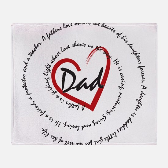Fathers Day Dad Throw Blanket