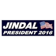 Bobby Jindal President 2016 Bumper Car Sticker