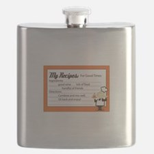 My Recipes For Good Times Flask
