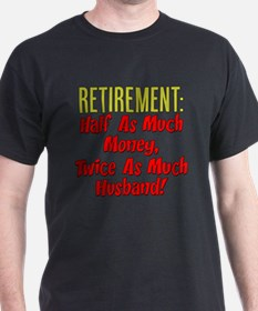 Funny husband 39 s retirement funny husband 39 s retirement t for How much is a custom t shirt