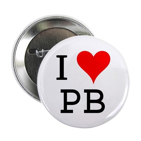 """I Love PB 2.25"""" Button (100 pack)"""