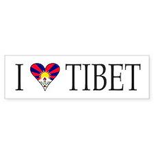I Love Tibet Bumper Bumper Sticker