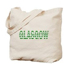 Glasgow Green and White Tote Bag
