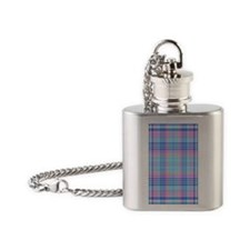 Abalone Plaid Flask Necklace
