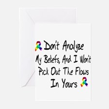 Don't analize Greeting Cards (Pk of 10)