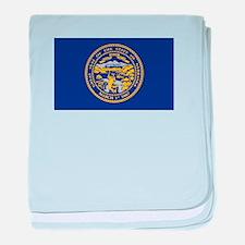 Flag of Nebraska baby blanket