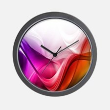 Abstract Waves Wall Clock